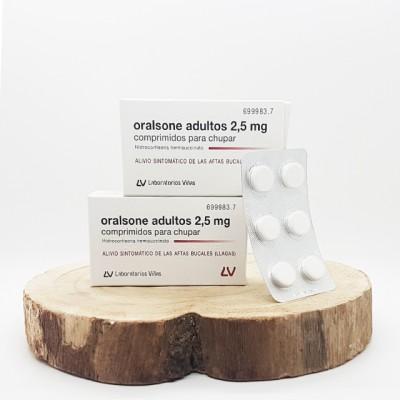 Oralsone adultos 2,5 mg 12 comprimidos para chupar