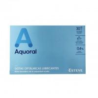 Colirio Aquoral gotas oftalmicas lubricantes 20 monodosis de 0.5ml.
