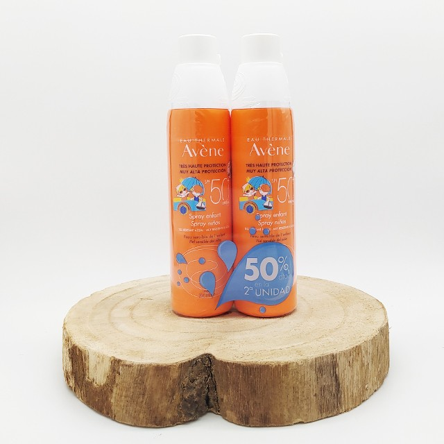 Avene solar 50+ spray niños duplo 200ml