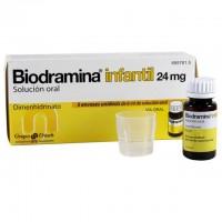 BIODRAMINA Infantil 24 mg solución oral 5 monodosis de 6ml
