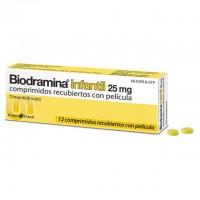 Biodramina Infantil 25 mg 12 Comprimidos recubiertos con película