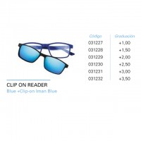 Gafa Iaview Clip On Reader Blue Clip-on Iman Blue