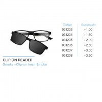 Gafa Iaview Clip On Reader Smoke Clip-on Iman Smoke