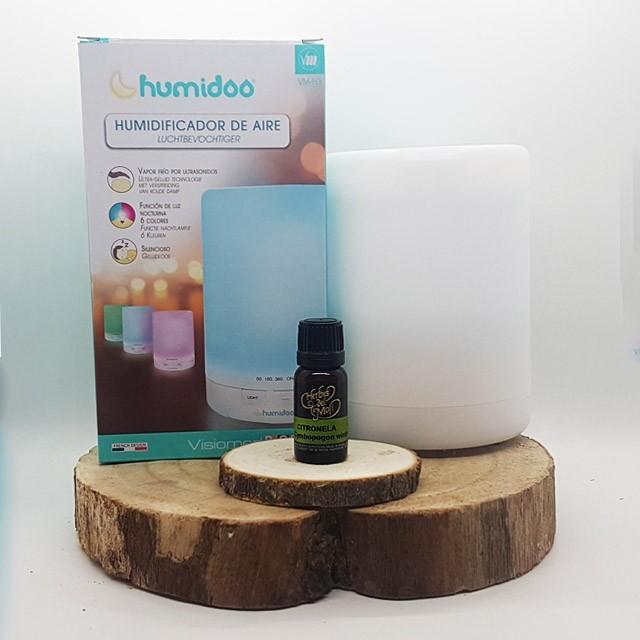 Pack Humidoo humidificador de aire + Aceites Esencial Citronela