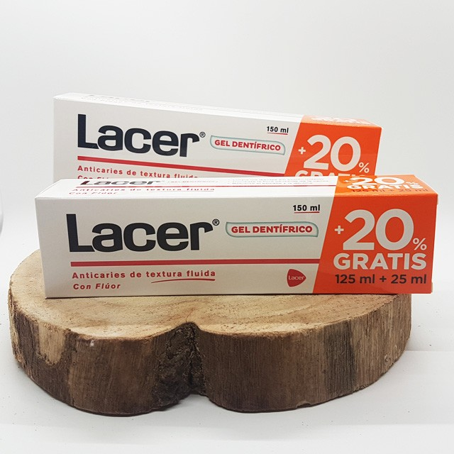 Lacer Gel Dentífrico 125ml+25ml 20% Gratis