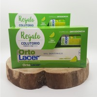 Orto Lacer Gel Dentífrico 75ml + Regalo Colutorio Orto Lacer 100ml