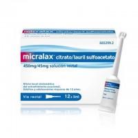 Micralax citrato/lauril sulfoacetato 450mg/45mg solución rectal canuletas