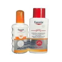 Protector solar Eucerin Sun spray solar 50+ 200ml con regalo de locion corporal eucerin de 200ml