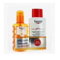 Protector solar Eucerin Sun spray transparente  FPS 50+ 200ml   + Loción hidratante 200ml. de regalo